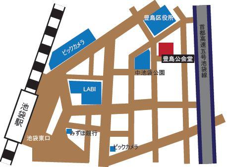 国際文化交流会の会場地図